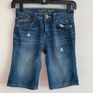 ⭐️3/$25⭐️ Justice Distressed Denim Bermuda shorts